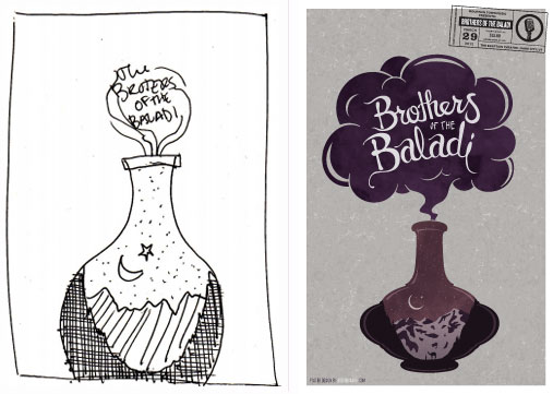 Sketch for Brothers of the Baladi Poster