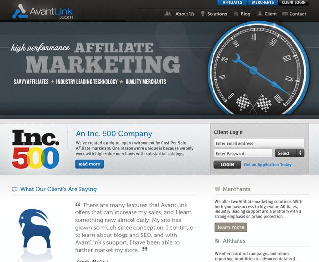 AvantLink Web Design