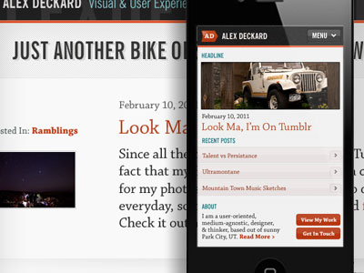 Alex Deckard Mobile First Redesign