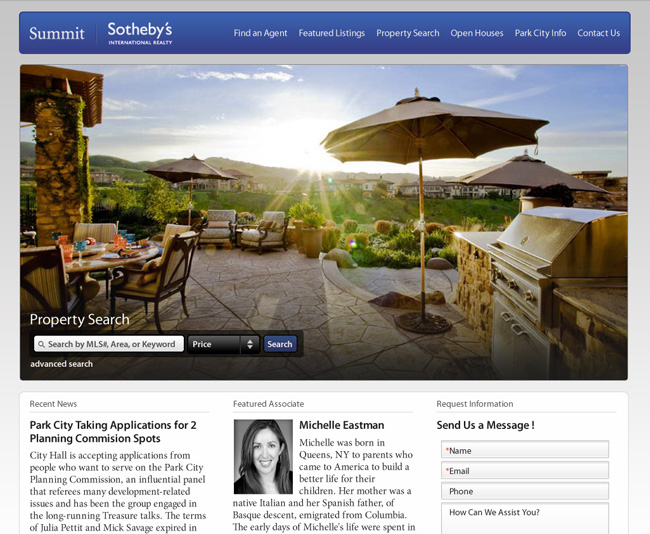 Sotheby's Park City Web Design