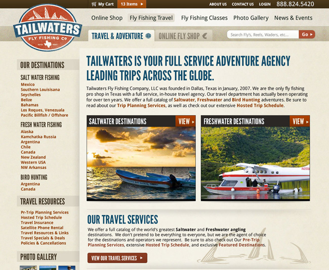 Tailwaters Fly Fishing - Web Design