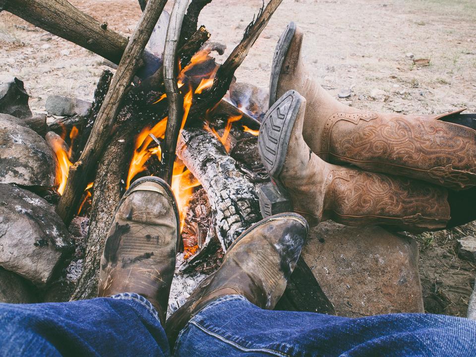 Cowboy Boots & Campfire