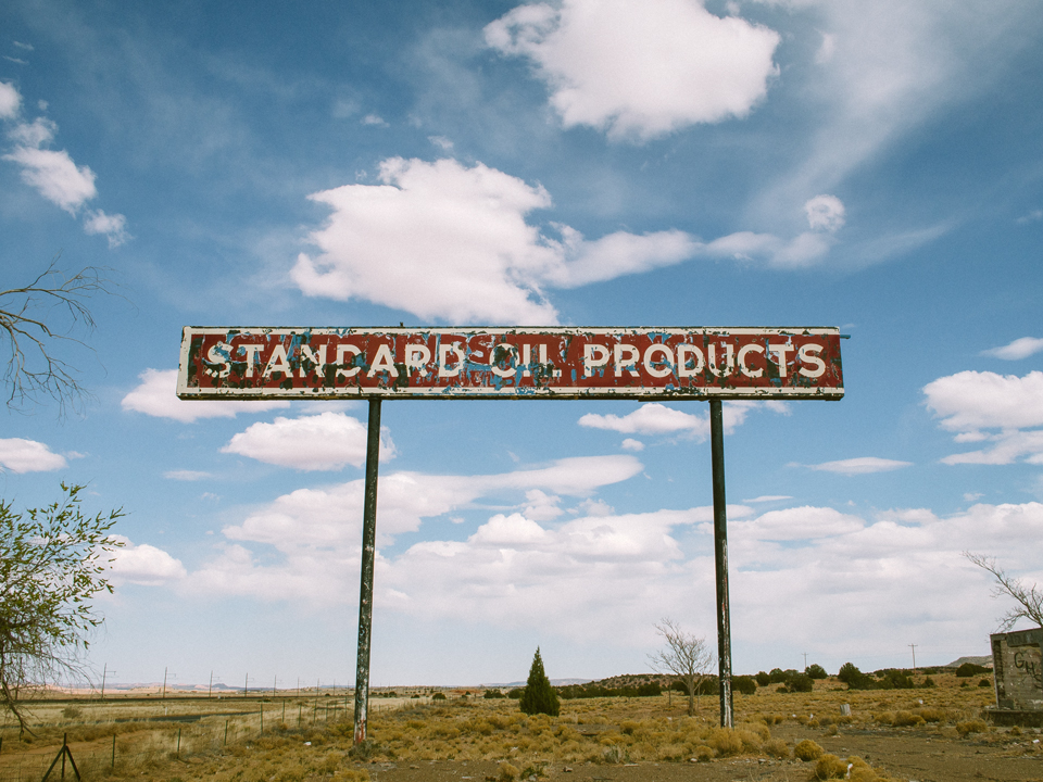 Standard Oil Products Sign
